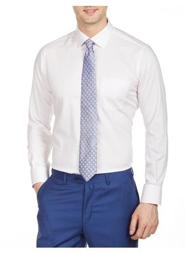 Bisse Uzun Kollu Klasik Gömlek Pembe